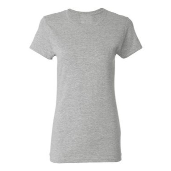 2 athletic heather plain blank women t shirt front