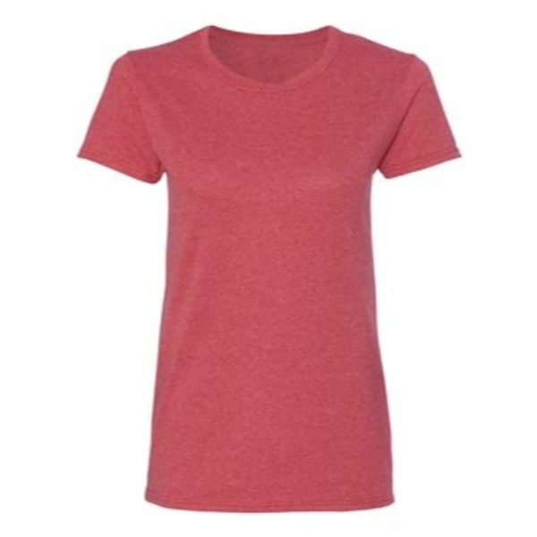 34 vintage heather red plain blank women t shirt front