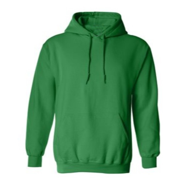 irish green hooded pullover