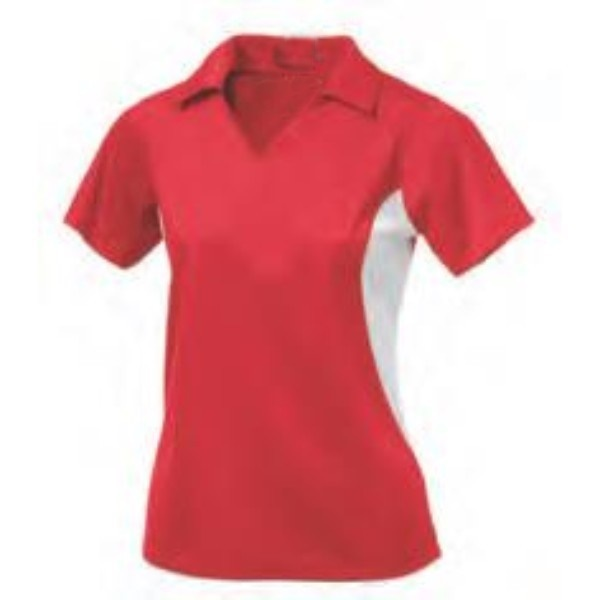 alizarin crimson polo women shirt