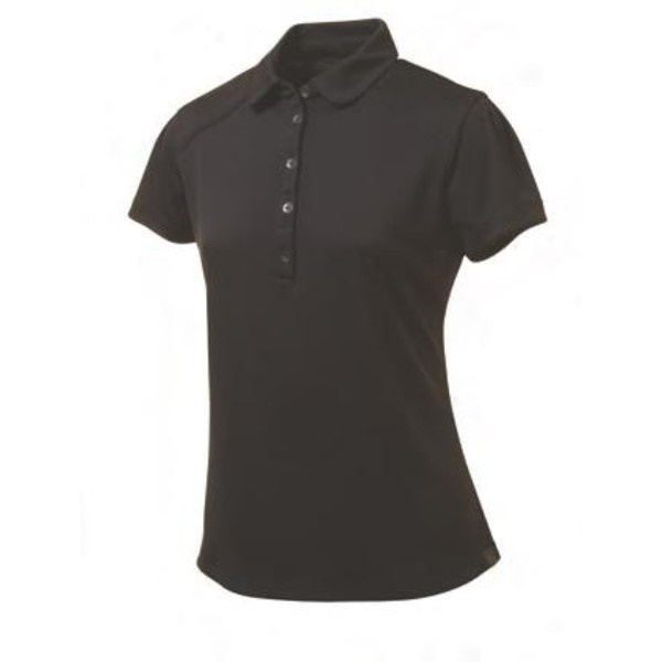 black blank polo women shirt