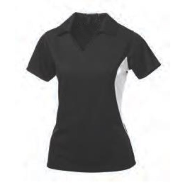 black two color polo women shirt