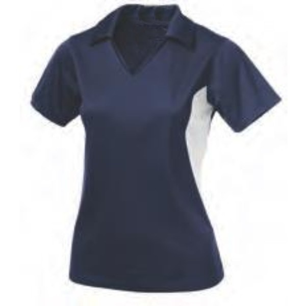 darkblue two color polo women shirt